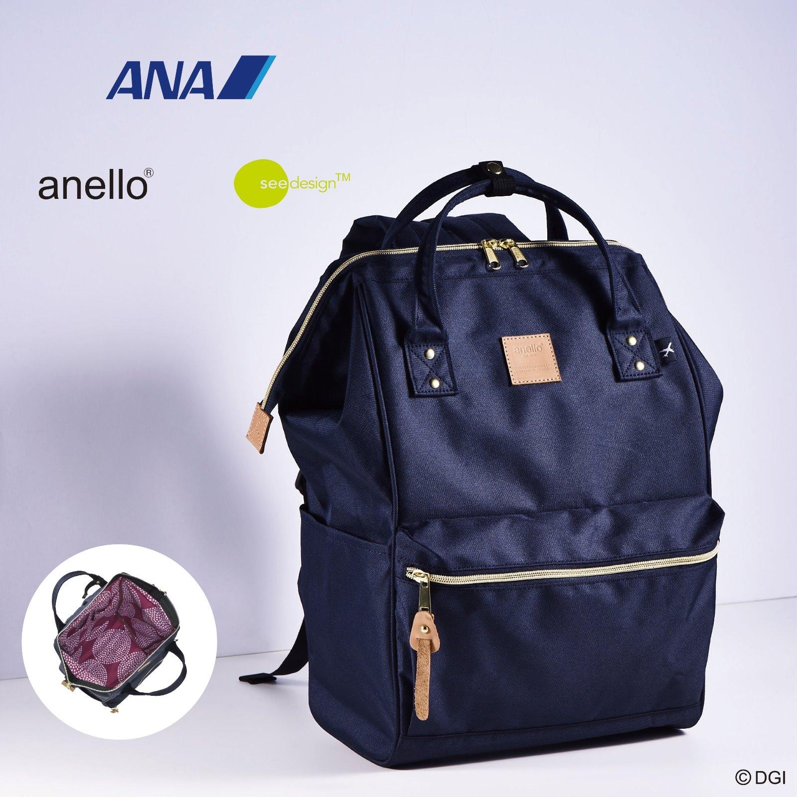 anello®×see design™のコラボリュックがANAの国内線機内で3月1日(木)より発売!